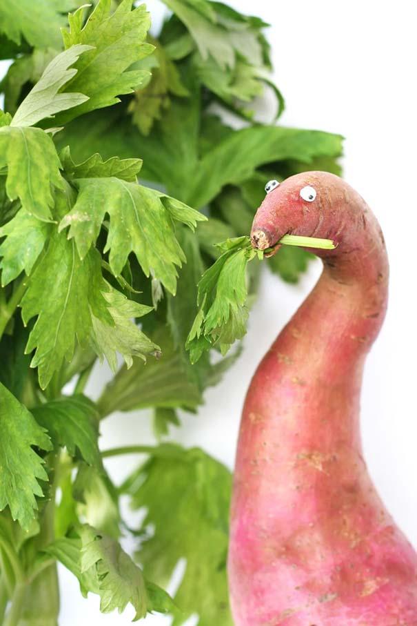 Τρόφιμα μετατρέπονται σε αστεία πλάσματα (6)