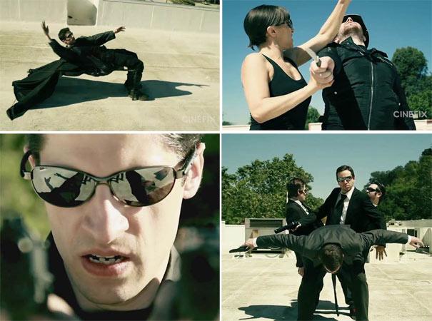 Αναπαράσταση σκηνής του Matrix με ελάχιστο budget