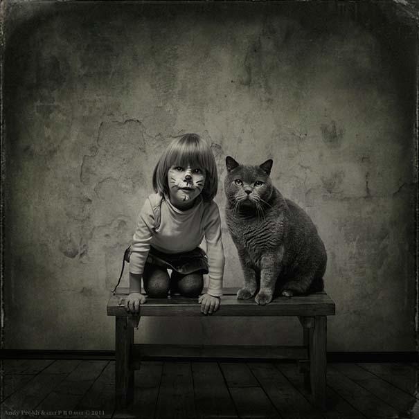 Η όμορφη φιλία ενός κοριτσιού και της γάτας της (1)