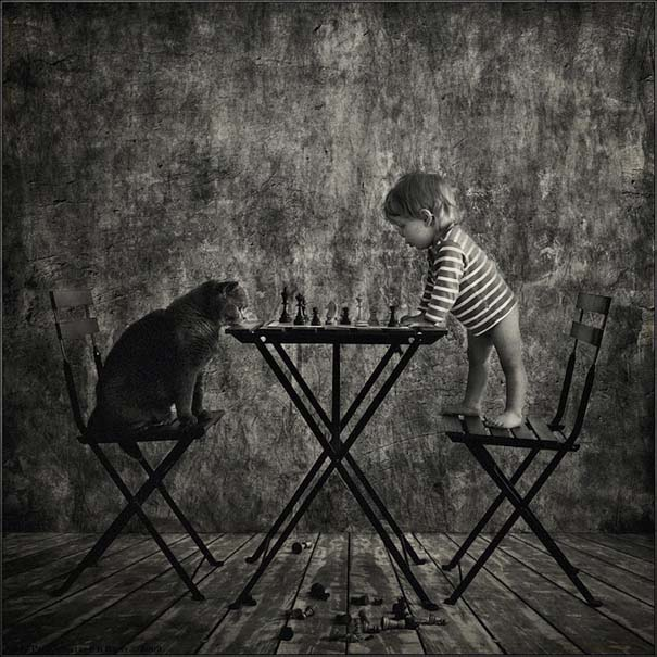 Η όμορφη φιλία ενός κοριτσιού και της γάτας της (4)