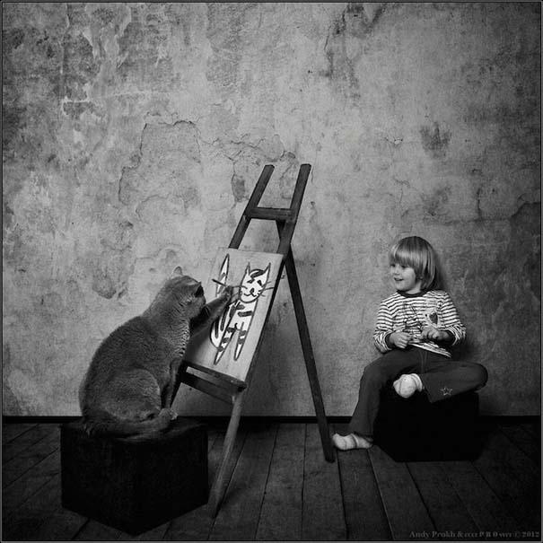 Η όμορφη φιλία ενός κοριτσιού και της γάτας της (7)