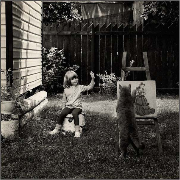 Η όμορφη φιλία ενός κοριτσιού και της γάτας της (8)