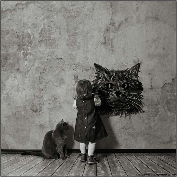 Η όμορφη φιλία ενός κοριτσιού και της γάτας της (9)