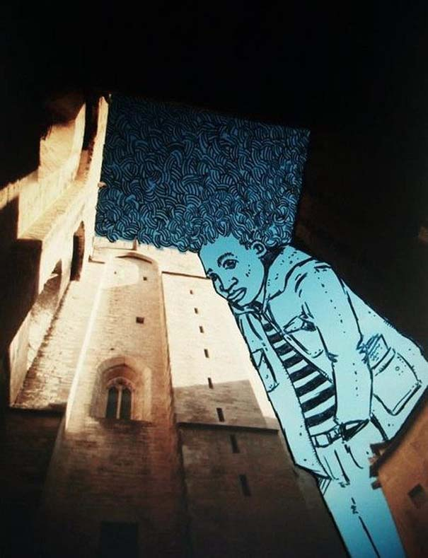 Καλλιτέχνης μετατρέπει τον ουρανό μεταξύ κτηρίων σε γεμάτες φαντασία φιγούρες (7)