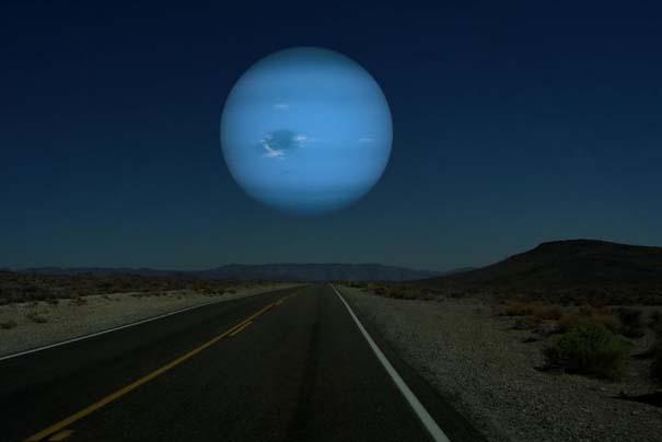 Πως θα φαίνονταν οι πλανήτες αν ήταν στη θέση της Σελήνης (5)