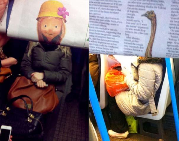Δείτε τι σκαρφίστηκε επιβάτης που βαριόταν στα μέσα μεταφοράς (5)