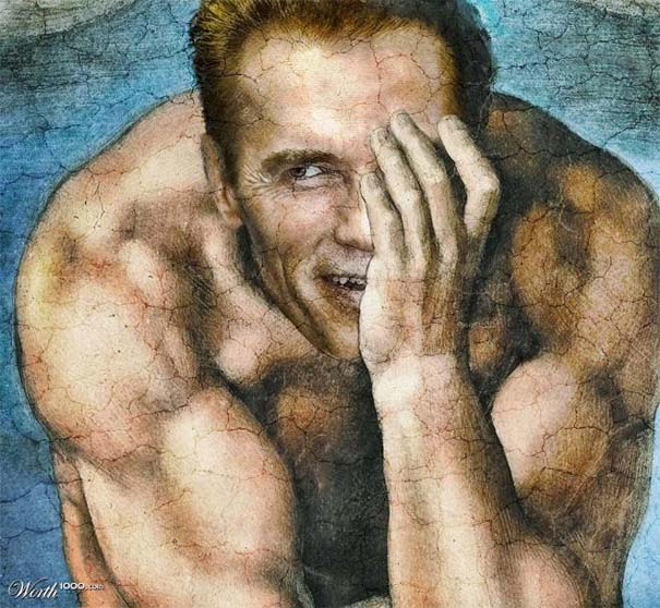 Κλασσικοί πίνακες ζωγραφικής με σύγχρονους celebrities (6)