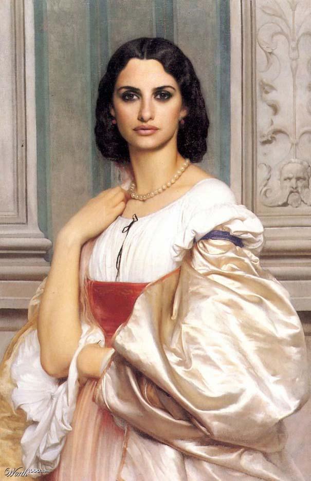 Κλασσικοί πίνακες ζωγραφικής με σύγχρονους celebrities (7)