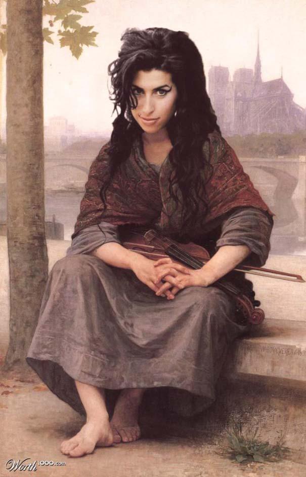 Κλασσικοί πίνακες ζωγραφικής με σύγχρονους celebrities (9)