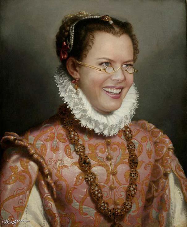 Κλασσικοί πίνακες ζωγραφικής με σύγχρονους celebrities (12)