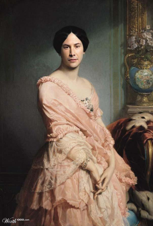 Κλασσικοί πίνακες ζωγραφικής με σύγχρονους celebrities (19)