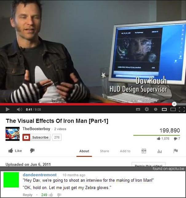 Παράξενα & ξεκαρδιστικά σχόλια στο YouTube (20)