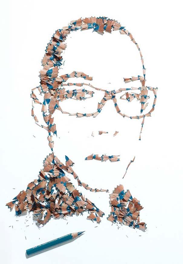 Πορτραίτα από ξύσματα μολυβιού (2)
