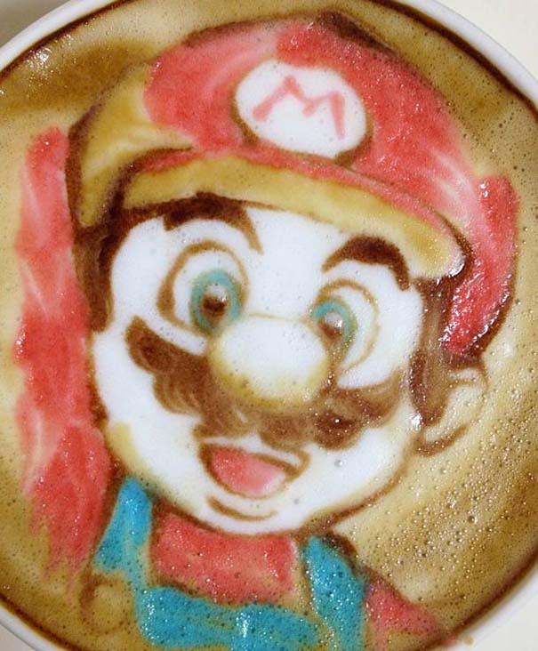 Υπέροχη τέχνη σε καφέ (27)