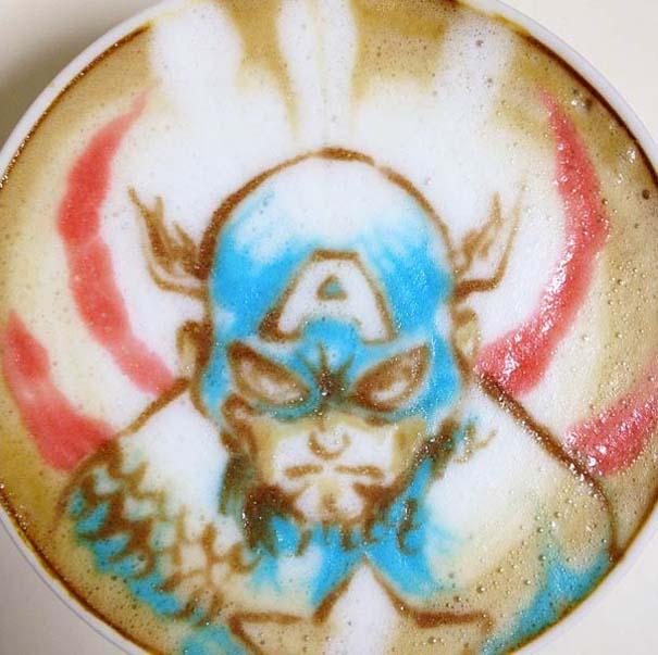 Υπέροχη τέχνη σε καφέ (29)