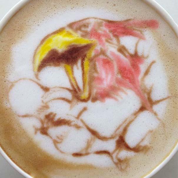 Υπέροχη τέχνη σε καφέ (4)