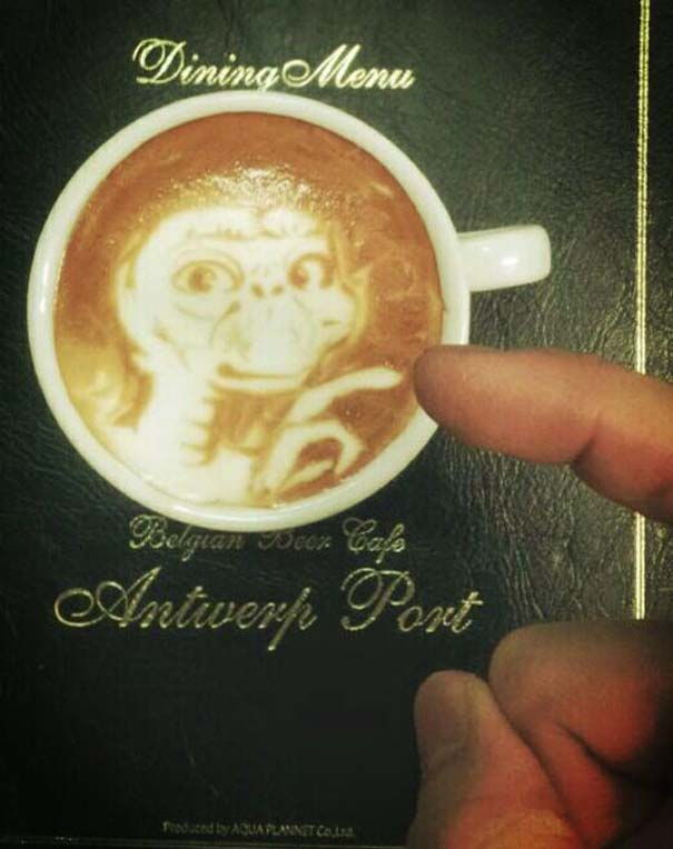Υπέροχη τέχνη σε καφέ (6)