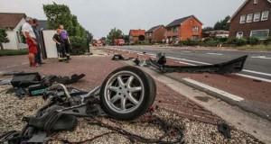 Audi S8 έγινε… κομματάκια και ο οδηγός βγήκε σχεδόν ανέπαφος