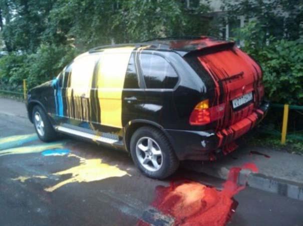 Όταν το αυτοκίνητο γίνεται θύμα... εκδίκησης! (8)
