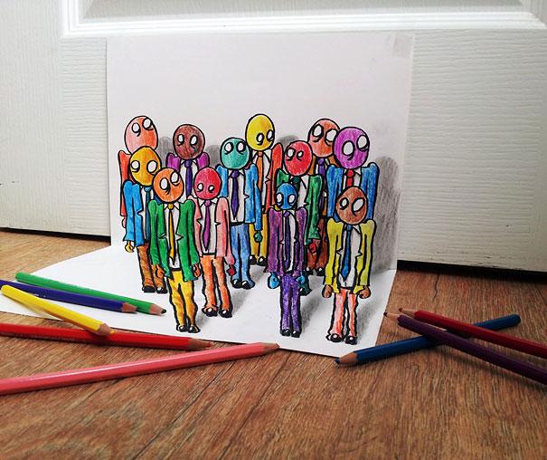 Εκπληκτικές 3D ζωγραφιές που «βγαίνουν» απ' το χαρτί (5)