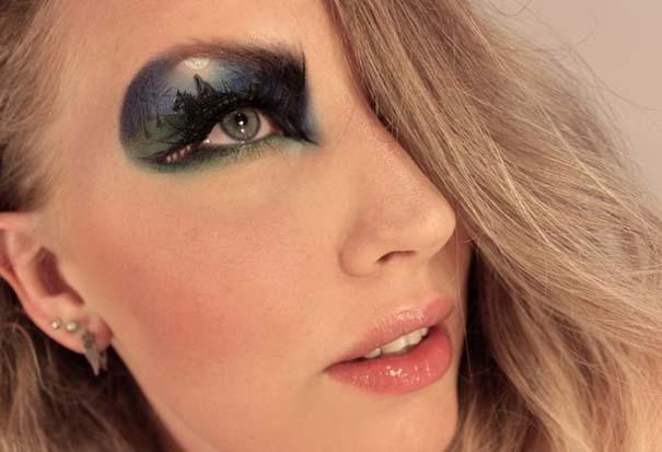 Makeup Artist ζωγραφίζει εκπληκτικές σκηνές στα βλέφαρα της (1)