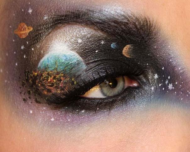 Makeup Artist ζωγραφίζει εκπληκτικές σκηνές στα βλέφαρα της (3)