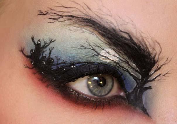 Makeup Artist ζωγραφίζει εκπληκτικές σκηνές στα βλέφαρα της (4)