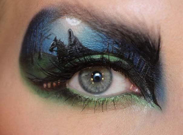 Makeup Artist ζωγραφίζει εκπληκτικές σκηνές στα βλέφαρα της (2)