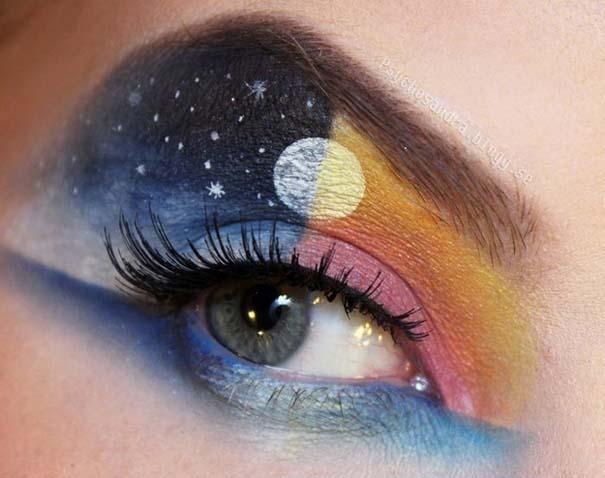Makeup Artist ζωγραφίζει εκπληκτικές σκηνές στα βλέφαρα της (5)