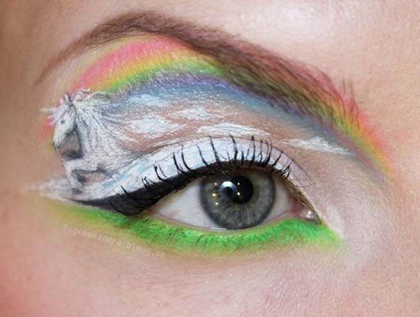 Makeup Artist ζωγραφίζει εκπληκτικές σκηνές στα βλέφαρα της (7)