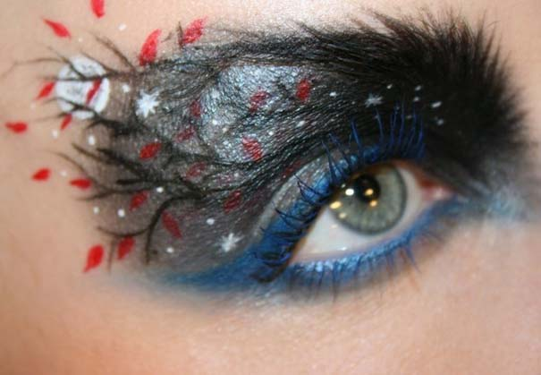 Makeup Artist ζωγραφίζει εκπληκτικές σκηνές στα βλέφαρα της (6)