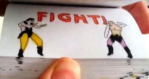 Επική μονομαχία Mortal Kombat… στο χαρτί (Video)