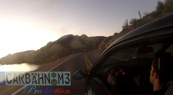 BMW M3 στον γκρεμό