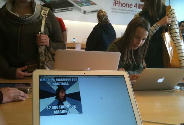 Παράξενα κι αστεία στα Apple Stores (8)