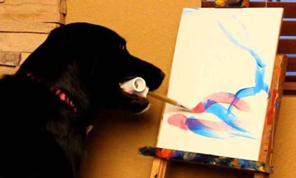 Ο σκύλος - ζωγράφος (2)