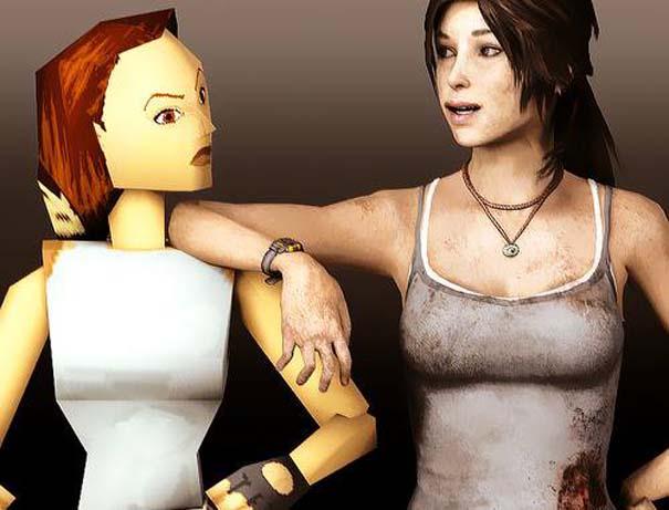 Χαρακτήρες από video games τότε και τώρα (1)