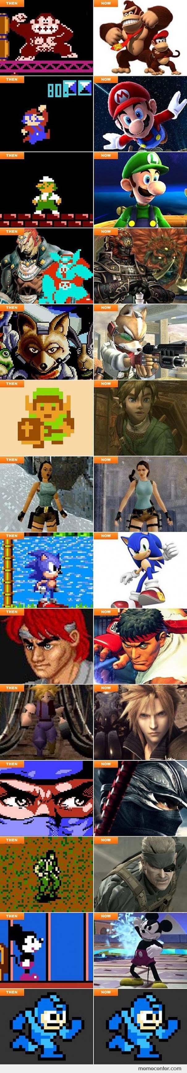 Χαρακτήρες από video games τότε και τώρα (2)