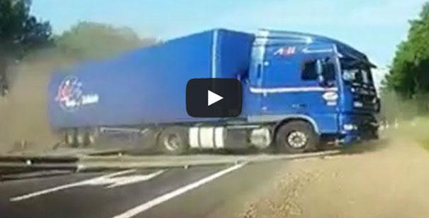 Ατυχήματα με φορτηγά στους δρόμους της Ρωσίας