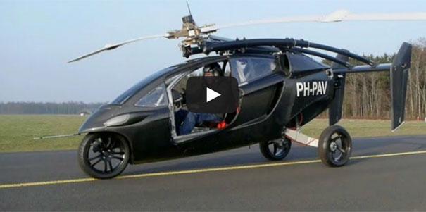 Αυτοκίνητο transformer μετατρέπεται σε ελικόπτερο