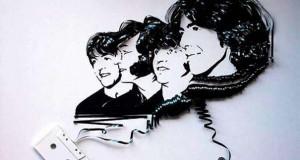 25 απίστευτα έργα τέχνης με κασέτες