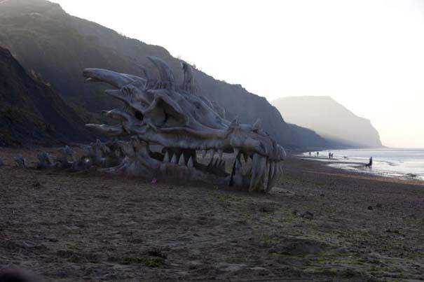 Γιγάντιο κρανίο δράκου σε παραλία της Αγγλίας (6)