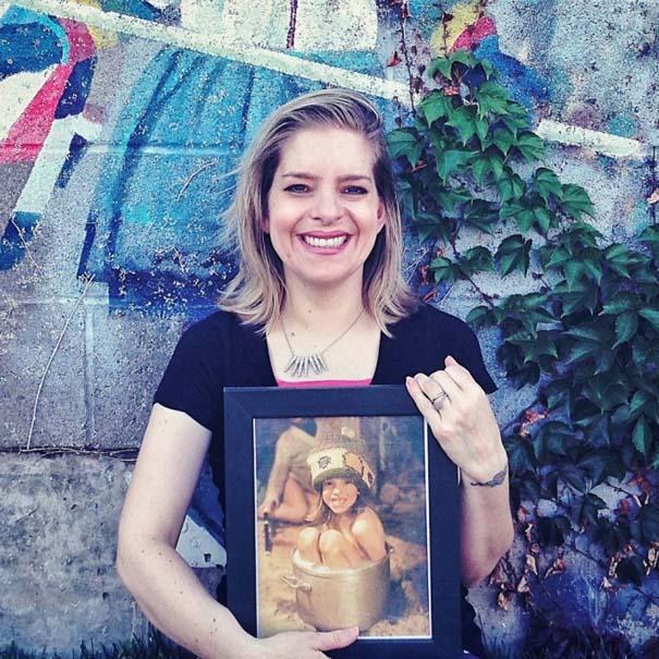 Γυναίκες ποζάρουν με περίεργες σχολικές τους φωτογραφίες (2)