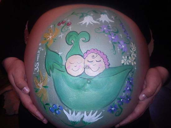 Κοιλιές εγκύων που έγιναν... έργα τέχνης (6)