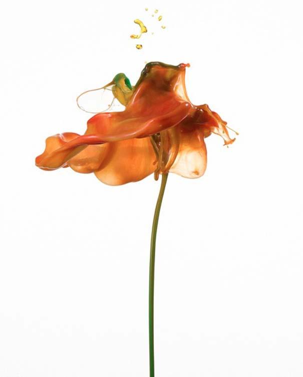 Καλλιτέχνης δημιουργεί λουλούδια από παφλασμούς χρωματισμένου νερού (14)