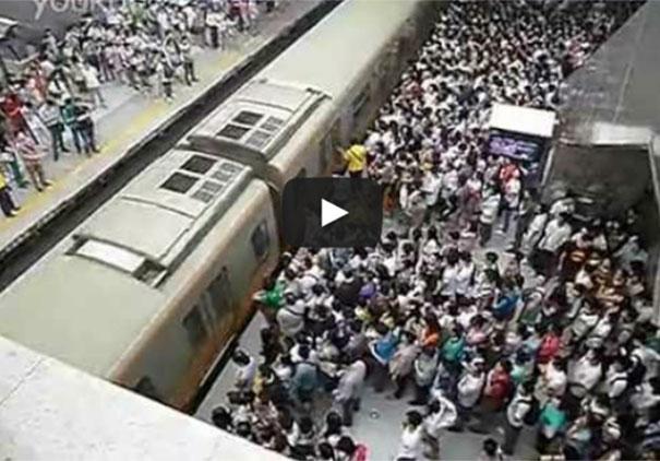 Το Μετρό του Πεκίνου σε ώρα αιχμής