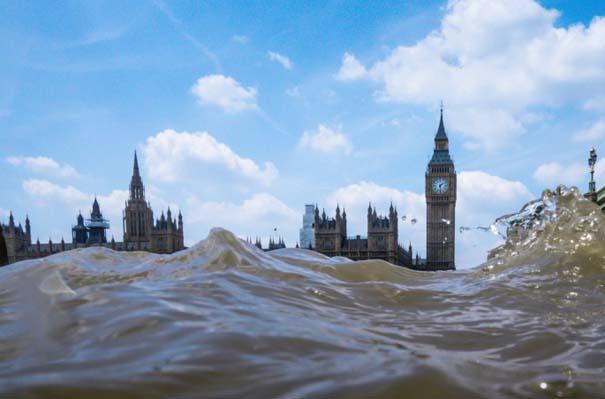 Φωτογραφίες από συγκεκριμένη γωνία λήψης δείχνουν το Λονδίνο μισοβυθισμένο (6)