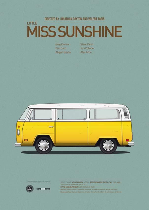 Posters ταινιών με διάσημα αυτοκίνητα (1)