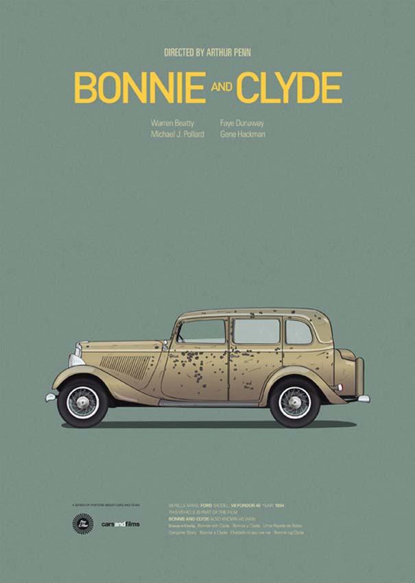 Posters ταινιών με διάσημα αυτοκίνητα (3)