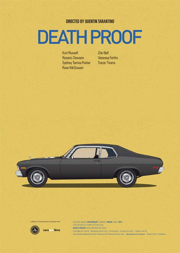 Posters ταινιών με διάσημα αυτοκίνητα (5)