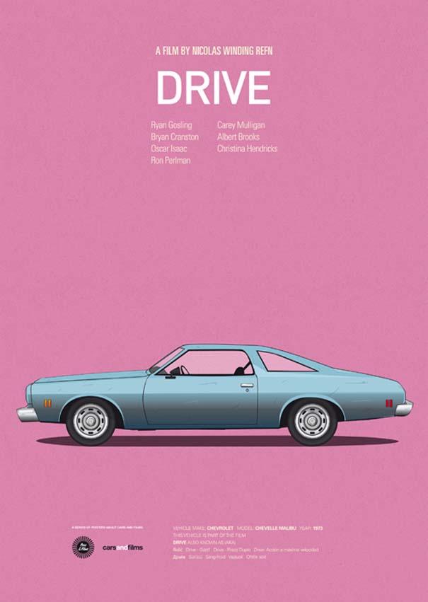 Posters ταινιών με διάσημα αυτοκίνητα (6)